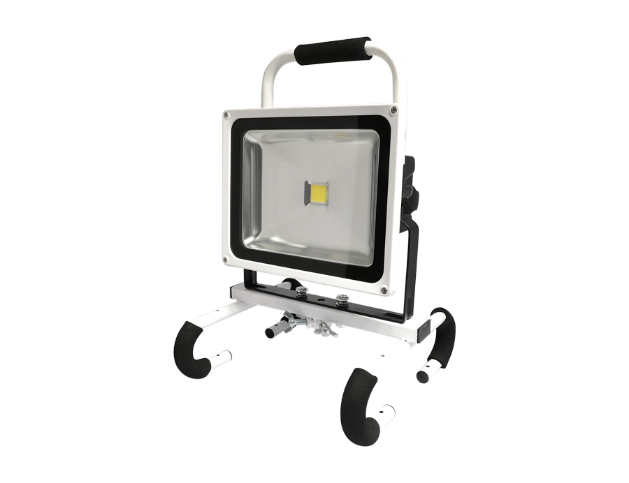 Portable 50w outdoor rechargeable led flood light L10-2001B-50W-LBL62B2200