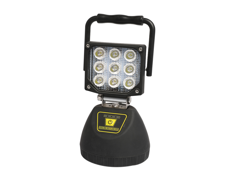 Portable Rechargeable 27W Chip LED Spot Worklight with Magnet L12-2002-9LED