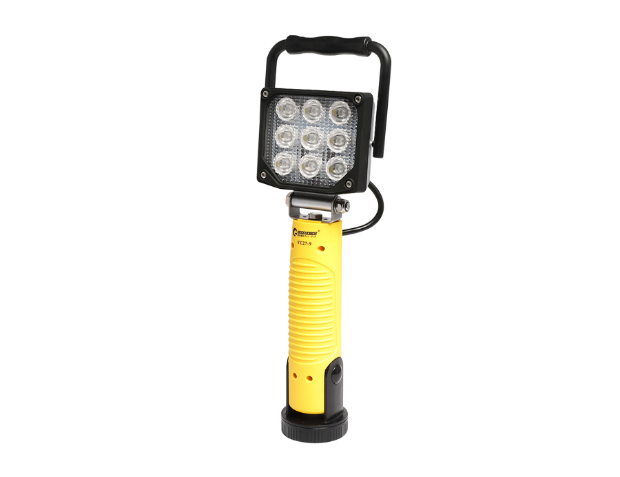 Handheld Portable Led Flood Lights With Rotatable magnetic base L12-2002P-9L